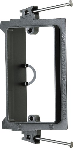 Arlington LVN1 1-Gang Low Voltage Nail-On Mounting Bracket, Black, 50-Pack