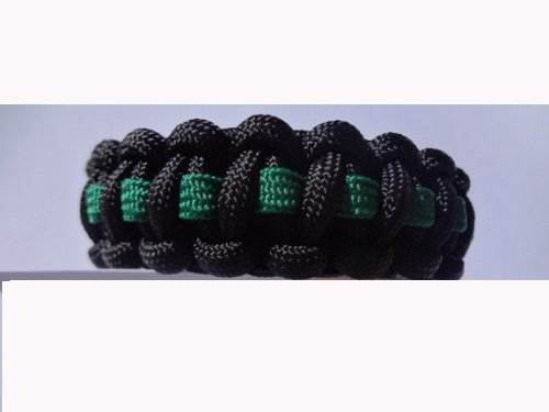 Thin Line Paracord Survival Bracelets with Colored Buckles, Click Here to Choose From 22 Different Colors By Bostonred2010 (KELLY GREEN WITH GREEN BUCKLE, 9)