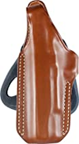 BLACKHAWK! Angle Adjustable Leather Paddle Brown Holster, Size 01, Left Hand