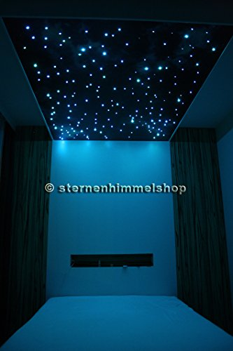 rgb led sternenhimmel komplett set mit spr hkleber 240 lichtfaser fernbedienung netzteil. Black Bedroom Furniture Sets. Home Design Ideas
