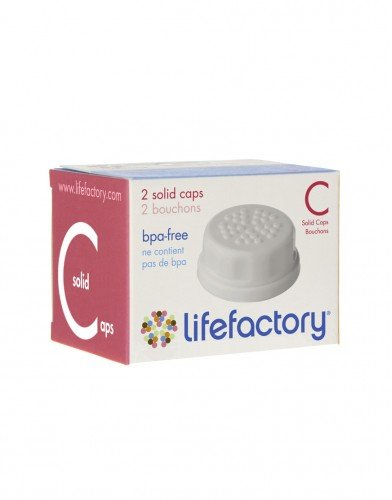 Solid Caps White Lifefactory 2 Pack - 1