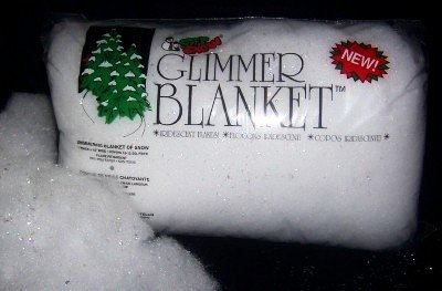Glimmer white Snow Blanket Glitter flame retardent christmas decoration village na
