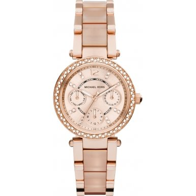 Michael Kors MK6110 Blush Womens Watch with Golden Dial and Multi Color Band