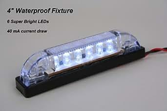 "LED Bar Light - Heavy Duty, Water resistant 12 Volt DC LED courtesy convenience lamp, 4"" length"