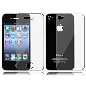 Front and Back Reusable Screen Protector for Apple iPhone 4 (3 pack)