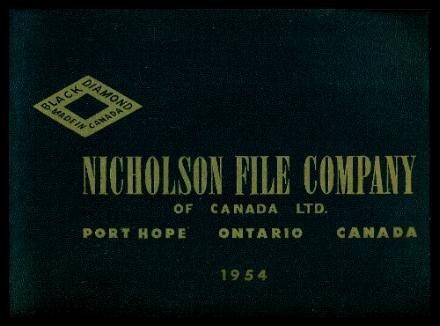 NICHOLSON FILE COMPANY OF CANADA LTD. - Files and Rasps - Black Diamond