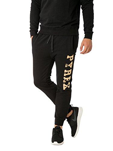 PYREX - Pantaloni unisex uomo donna con stampa regular fit 33028 xl nero