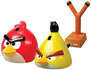 Nikko Radio Control 35006 iRacer Angry Birds - Tirachinas y figura de color rojo