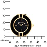 BCBGMAXAZRIA Women's BG6251 Bauhaus Gold-Tone Black Leather Watch