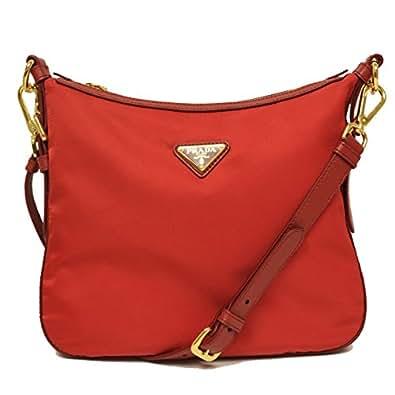 fb3f16f34ea2 www.semadatacoop.org Prada BT0706 Rosso Red Tessuto Saffian Nylon and  Leather Crossbody Messenger