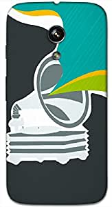 Timpax Protective Hard Back Case Cover Printed Design : Music and rainbow.100% Compatible with Motorola Moto-G ( 1st Gen )