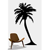 Vinyl Wall Art Decal Sticker Palm Tree Big 38