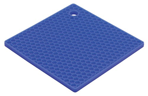 HIC Honeycomb Silicone Trivet, 7-Inch, Blueberry