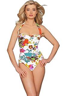 Mandarin Bandeau-Halter One Piece Swimsuit