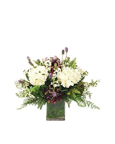 Creative Displays Lilacs & Hydrangea With Fern Floral, Purple/Green/Crème