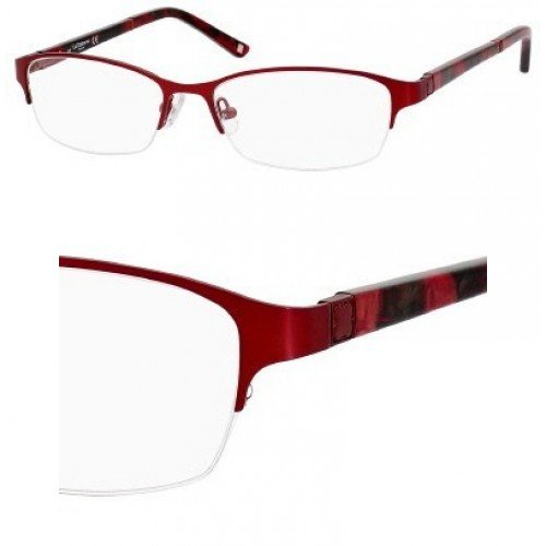 Liz Claiborne 385 Eyeglasses (0FC9) Red Rose,