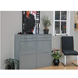 schuhschrank berlin schuhkipper schuhregal flur dielen schrank grau hochglanz garten. Black Bedroom Furniture Sets. Home Design Ideas