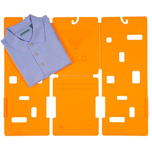MiracleFold MFJ01 Junior Size Laundry Folder, Orange