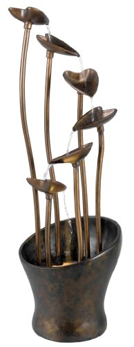 Kenroy Home 50332ACB Leaves Indoor/Outdoor Fountain