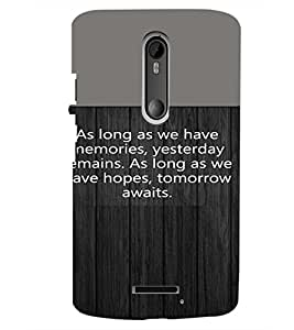 PrintDhaba Quote D-4721 Back Case Cover for MOTOROLA MOTO X3 (Multi-Coloured)