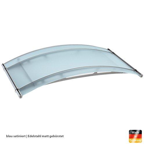 vordach haust r rundbogenvordach acrylglas edelstahl blau edelstahl matt 150 x 91 cm. Black Bedroom Furniture Sets. Home Design Ideas