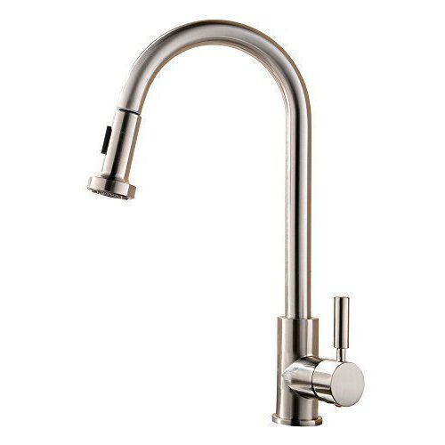Commercial Sink Sprayer Parts : ... Sprayer Single Handle Kitchen Sink Faucets,Brushed Nickel Faucet