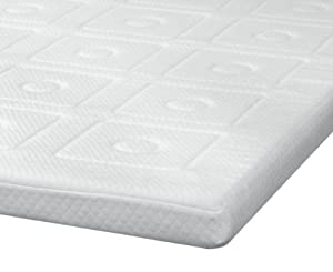 SensorPEDIC Luxury Extraordinaire 3-Inch Quilted Memory Foam Mattress Topper, Full Size, White
