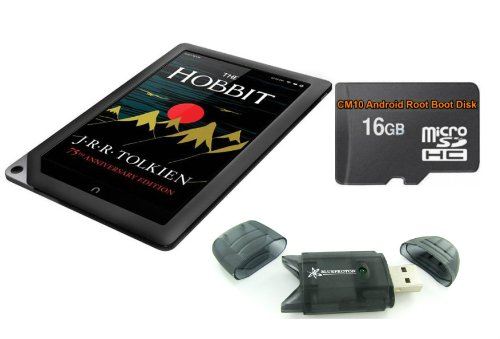 NOOK 16GB HD+ Tablet (CPO) with 16GB Android Jelly Bean CM10 Root MicroSD & BlueProton Card Reader