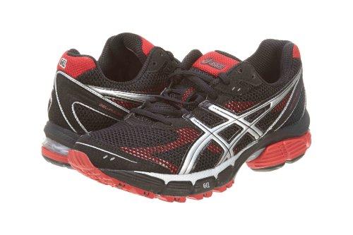 fdsfgds: ASICS Men's Pulse 4 Running Shoe,Black/Silver/Flame