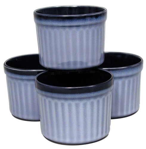 Sango Nova Blue Ramekins set of  4 - Buy Sango Nova Blue Ramekins set of  4 - Purchase Sango Nova Blue Ramekins set of  4 (Sango, Home & Garden, Categories, Kitchen & Dining, Cookware & Baking, Baking, Ramekins & Souffle Dishes)