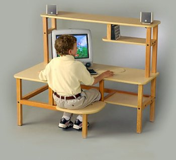 Buy Low Price Comfortable Preschool Computer Desk w/Hutch (B0001OT0CY)