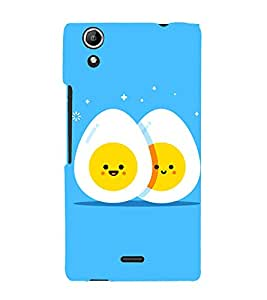 Egg Design Cute Fashion 3D Hard Polycarbonate Designer Back Case Cover for Micromax Canvas Selfie Lens Q345
