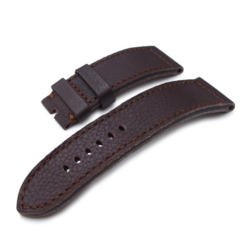 24mm-genuine-buffalo-skin-teak-wood-strap-with-natural-cut-raw-edge-for-pin-buckle-use
