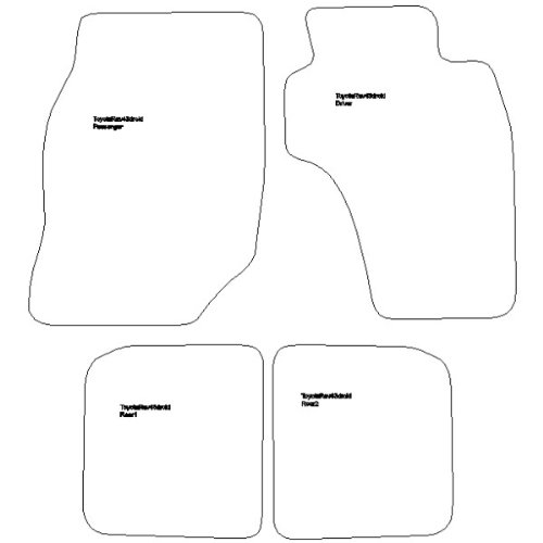 Toyota RAV4 3 Door Car Mats (1994-2000 ) Black Thick Rubber Car Mats