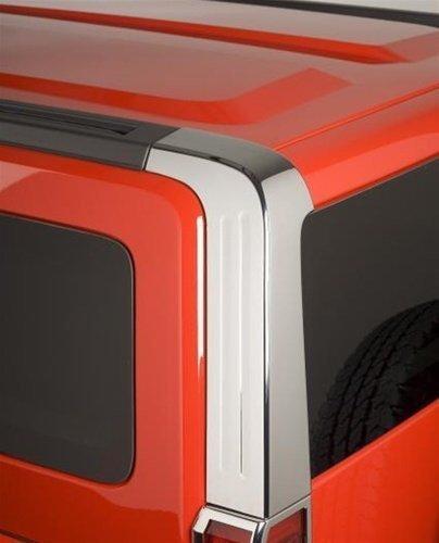 Hummer H3 Accessories - Chrome Rear Upper Pillar Covers 2006, 2007, 2008, 2009, 2010