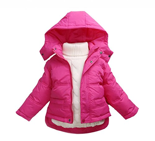 La vogue Rosarot Kinder Baby Daunen Mantel Jacke Winterjacke Mantel M