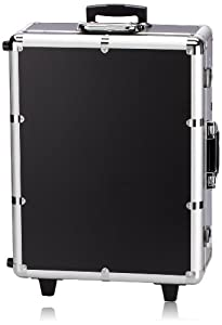 NYX Makeup Artist Train Case with Lights, Extra Large Black/Silver, 1 Ounce