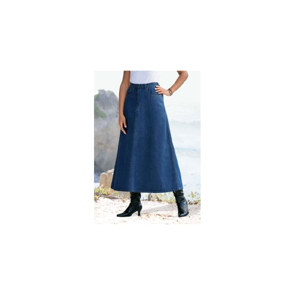 38a9fb66f5 Roamans Womens Plus Size Perfect Denim A Line Skirt on PopScreen
