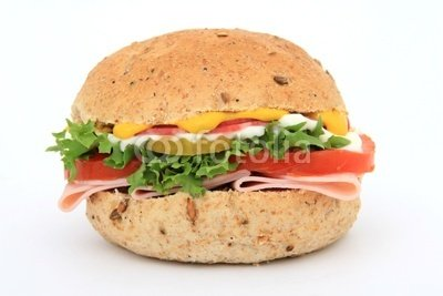 "Wallmonkeys Peel and Stick Wall Decals - Bread Sandwich in a Burger Bun - 24""W x 16""H Removable Graphic"