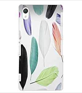 ColourCraft Colourful Feathers Design Back Case Cover for SONY XPERIA Z2