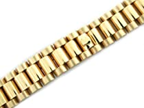 Midsize 18k Gold President Watch Band for Rolex 17mm