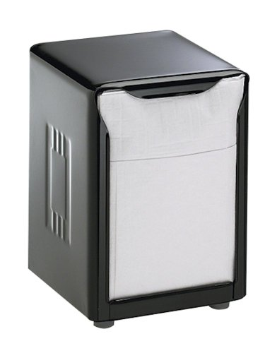 San Jamar H985BK Black Lowfold Table-Top Napkin Dispenser