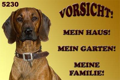Metall warnschild bayerischer gebirgsschweißhund