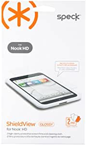Speck Products ShieldView Glossy Screen Protector for Nook HD, 2 Pack (SPK-A1925)