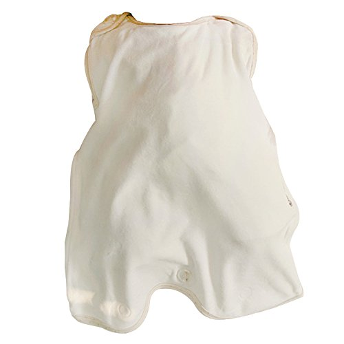 Baby Organic Cotton Sleep Sack Wearable Blanket (36 - 48 Months, Ivory) - 1