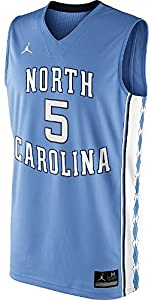UNC Tarheels Youth 5 Columbia Blue Basketball Jersey by Nike
