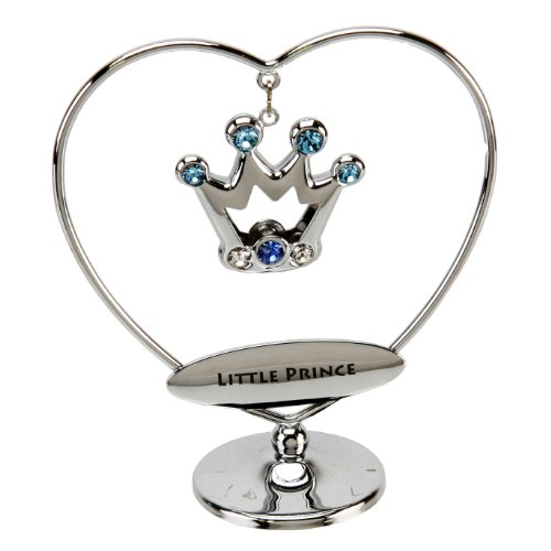 CRYSTOCRAFT LITTLE PRINCE HEART RING BLUE