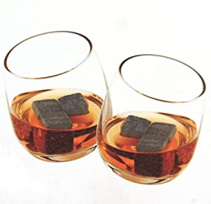 True Fabrications Glacier Rocks Whiskey Soapstone Ice Cubes and Rocking Tumblers Gift Set, 8pc Set from True Fabrications