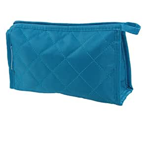 Amazon.com : Woman Blue Rectangle Small Zipper Case Makeup