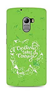 AMEZ creativity takes courage Back Cover For Lenovo K4 Note